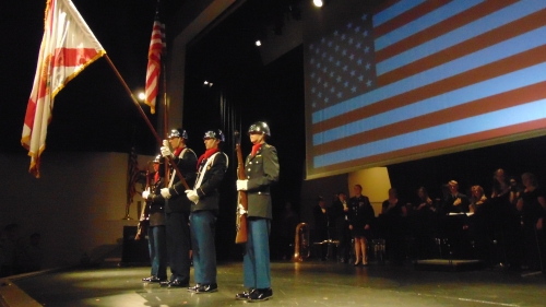 Color Guard presenting the colors at the Veterans Ceremony