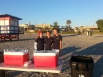 Cadets help out at the 5k run in Cocoa Beach