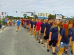 Cadets march through the streets of Cocoa Beach