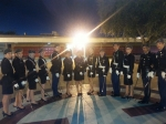 The Honor Guard poses before the Homecoming Game