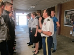 Sixth platoon finalizes promotion board, with two cadets water walking
