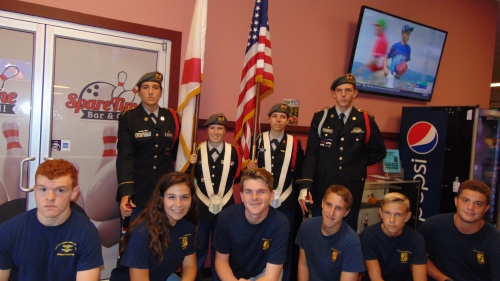 CBHS JROTC Color Guard- Shore Lanes Veterans Bowling Tournament